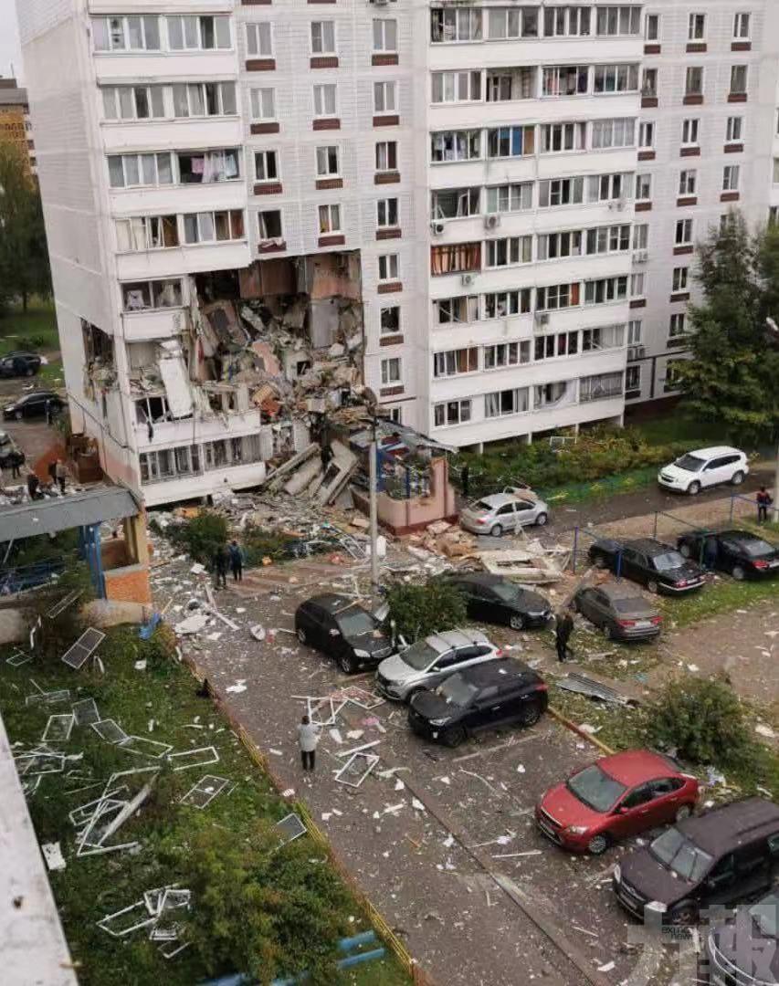 俄羅斯居民樓發生天然氣爆炸