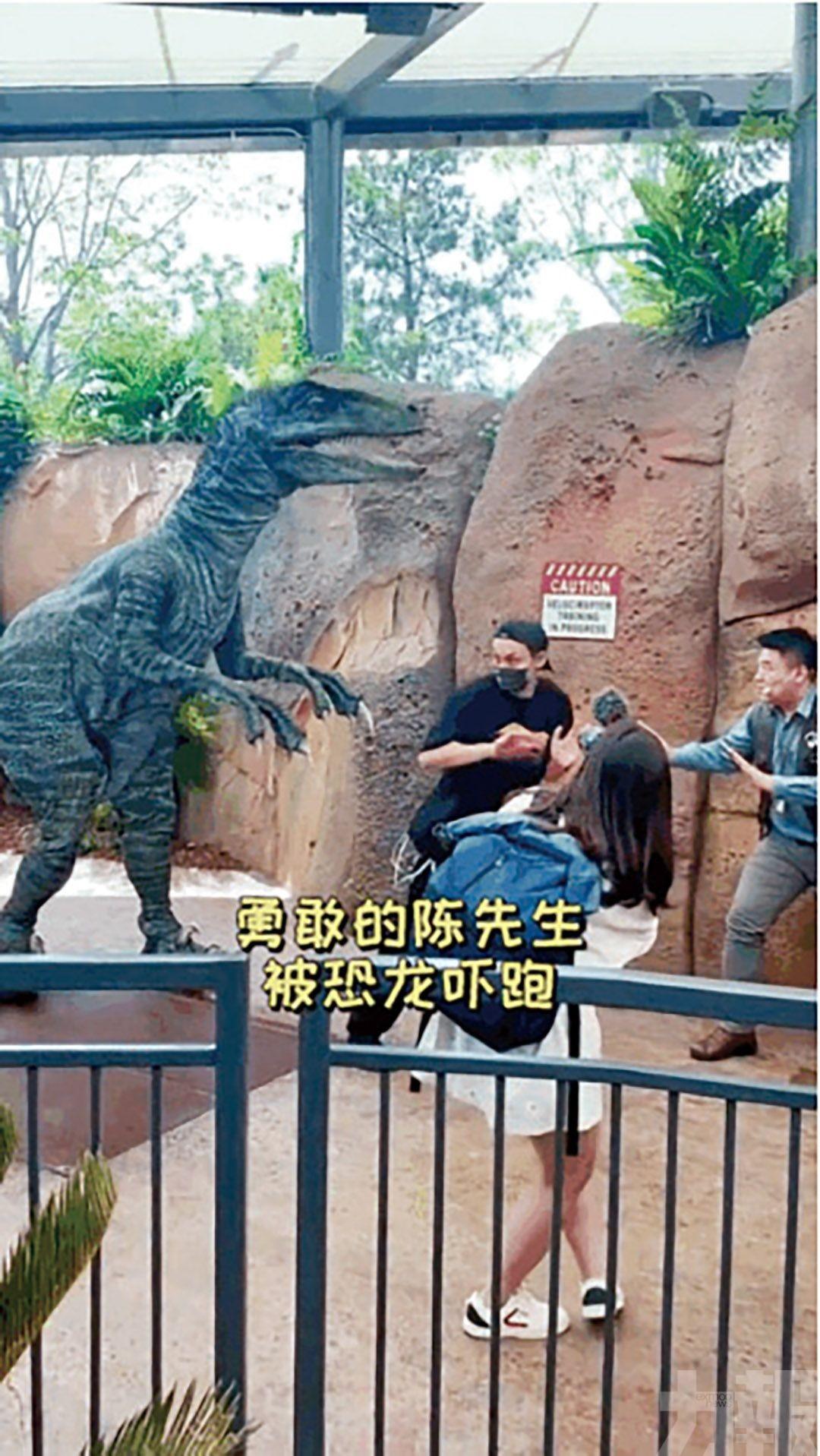 拖人個仔似拐帶畀恐龍嚇親
