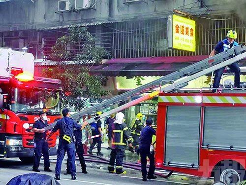 新美安大廈食店火警濃煙蔽天