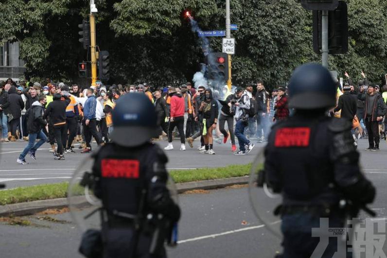 墨爾本建築工人發動暴力示威