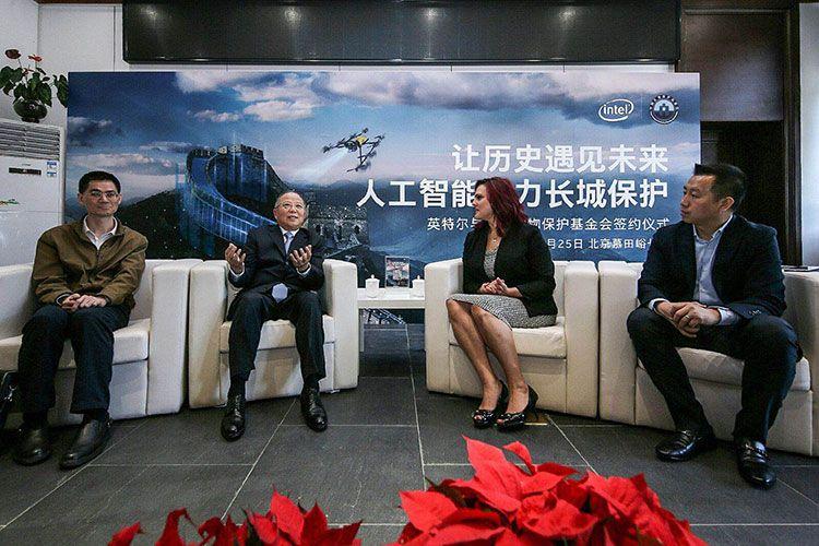 中國借助無人機修復長城