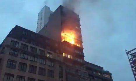 消防迅速撲滅 一人送院