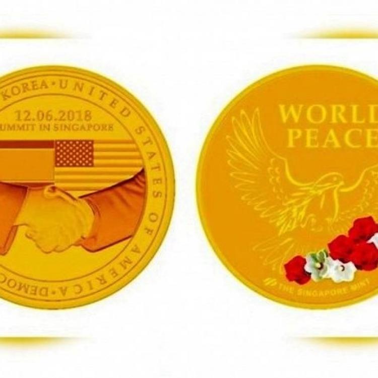 全球限量!新加坡推「特金會」紀念幣