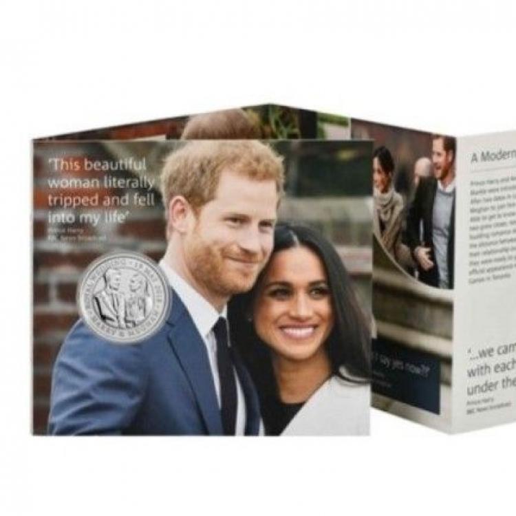 英皇家鑄幣廠推哈里大婚紀念幣