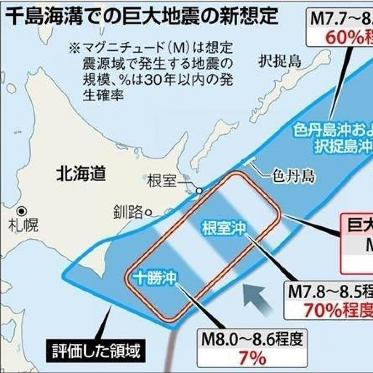 日專家:北海道30年內恐爆9級地震