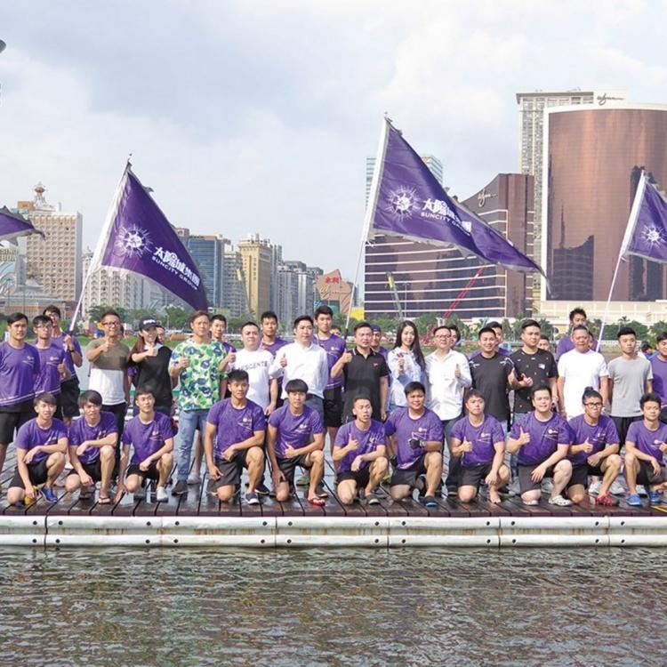 首次派隊參加澳門國際龍舟賽