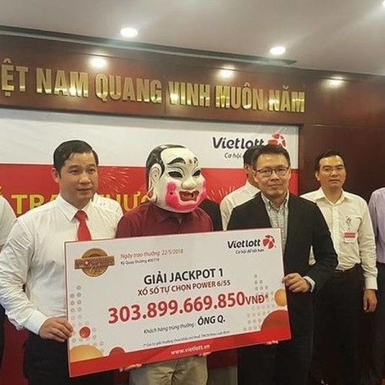 越南六合彩頭獎得主獨得一億
