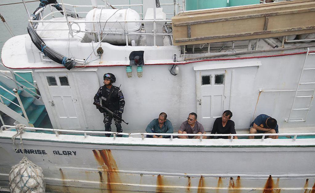 四名台灣船員被捕
