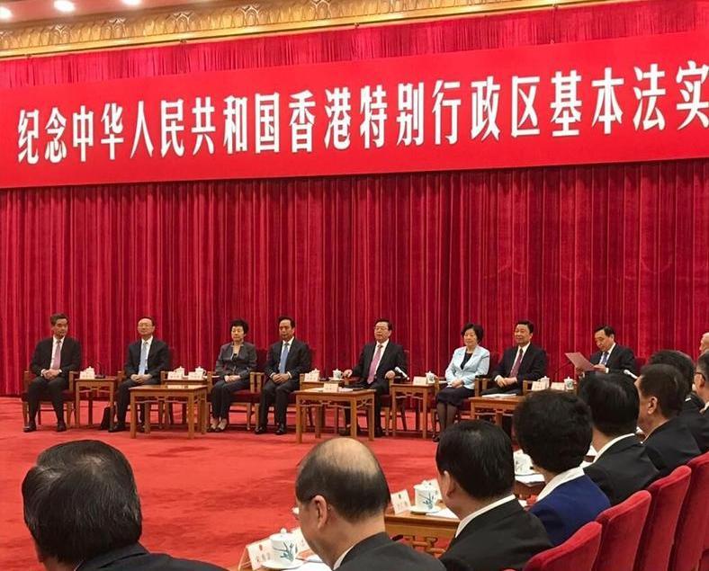 張德江強調中央對港管制權