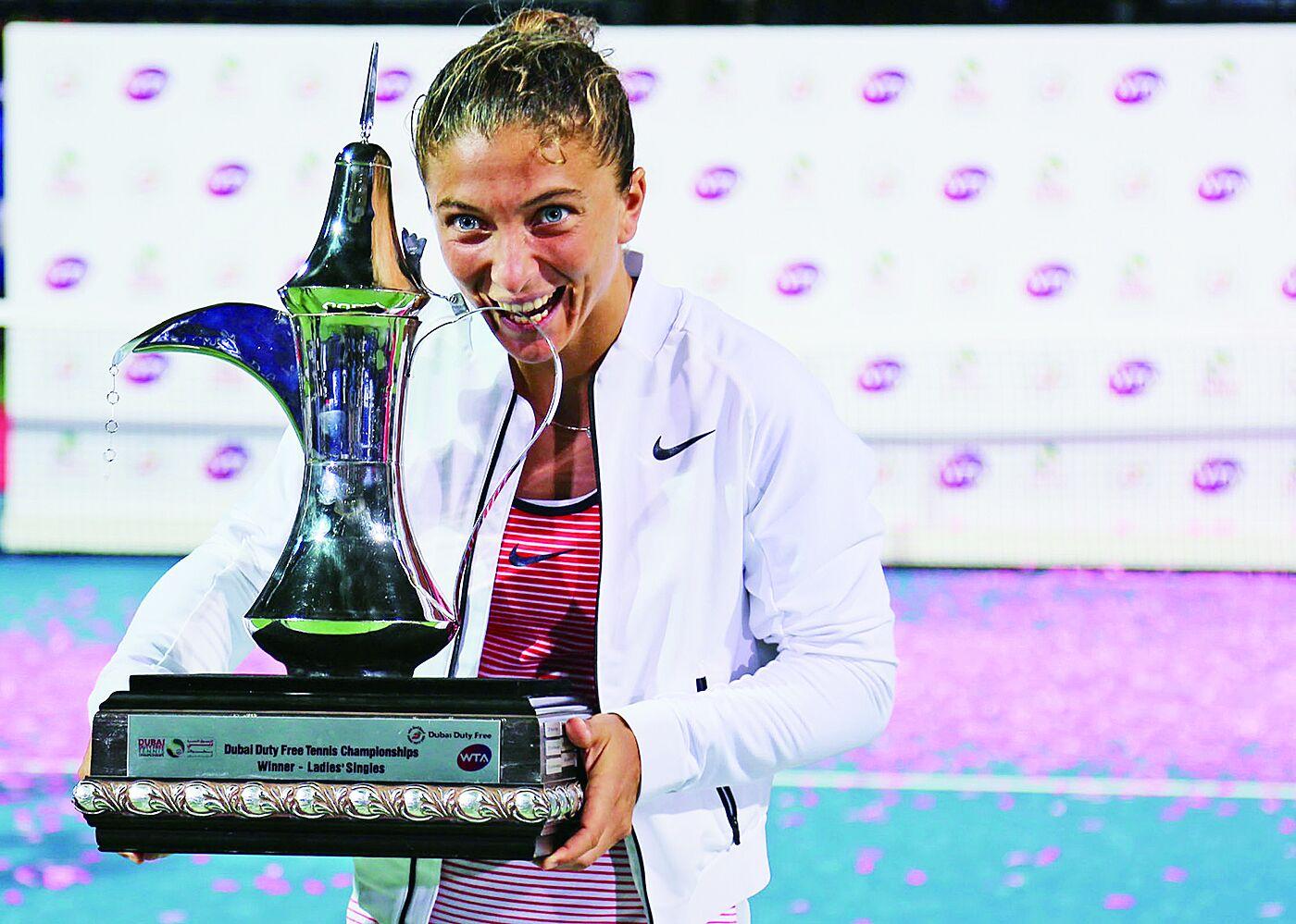 艾蘭妮捧迪拜女網錦標