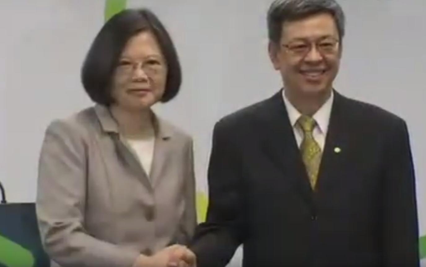 【兩岸】蔡英文公布副手陳建仁