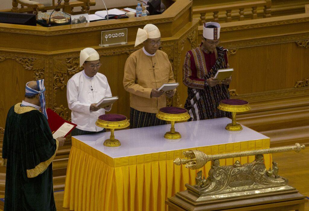 緬甸新總統廷覺宣誓就職