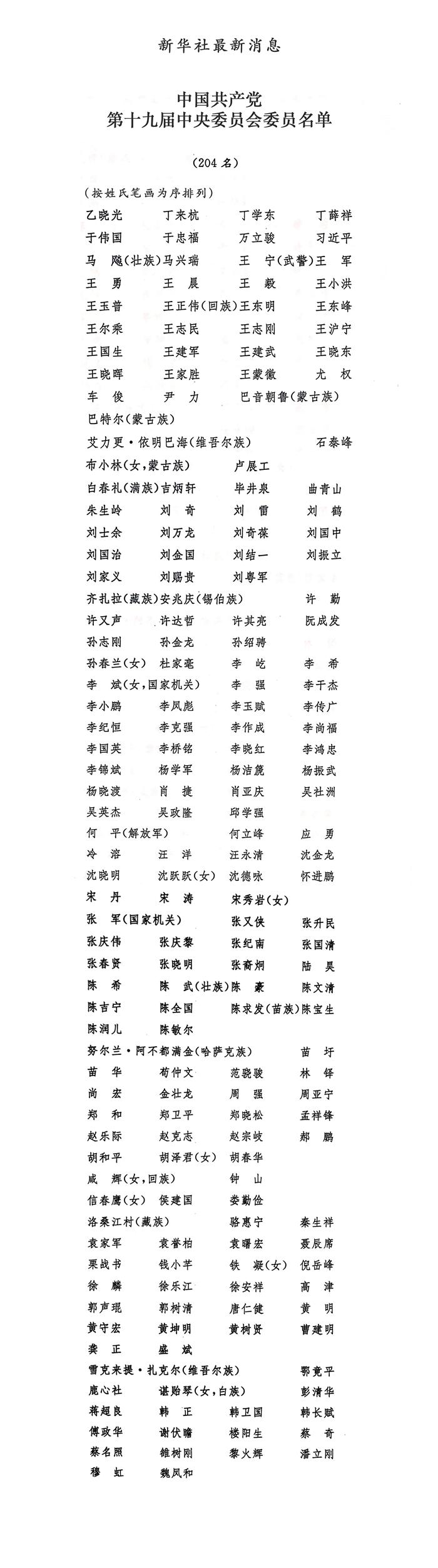 張曉明鄭曉松等任委員