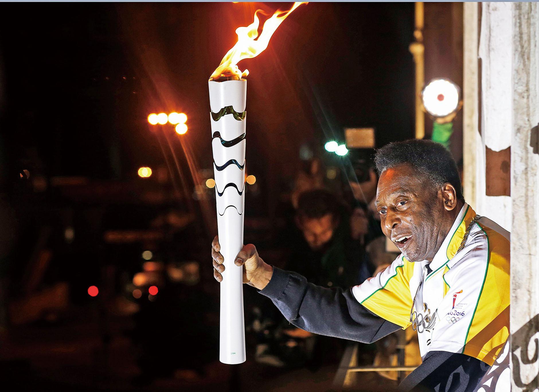 傳比利射波燃點奧運聖火