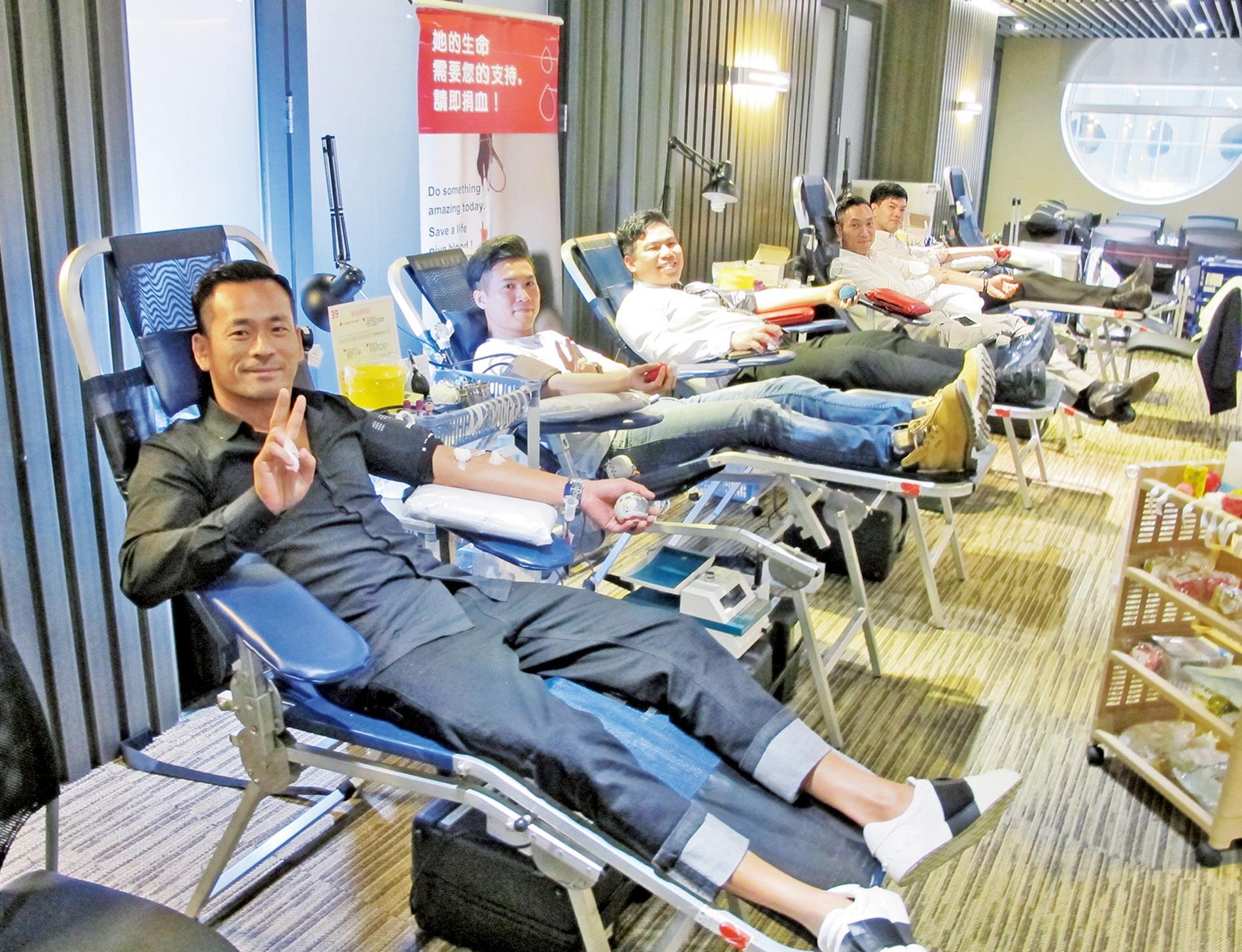 一連三日集體捐血