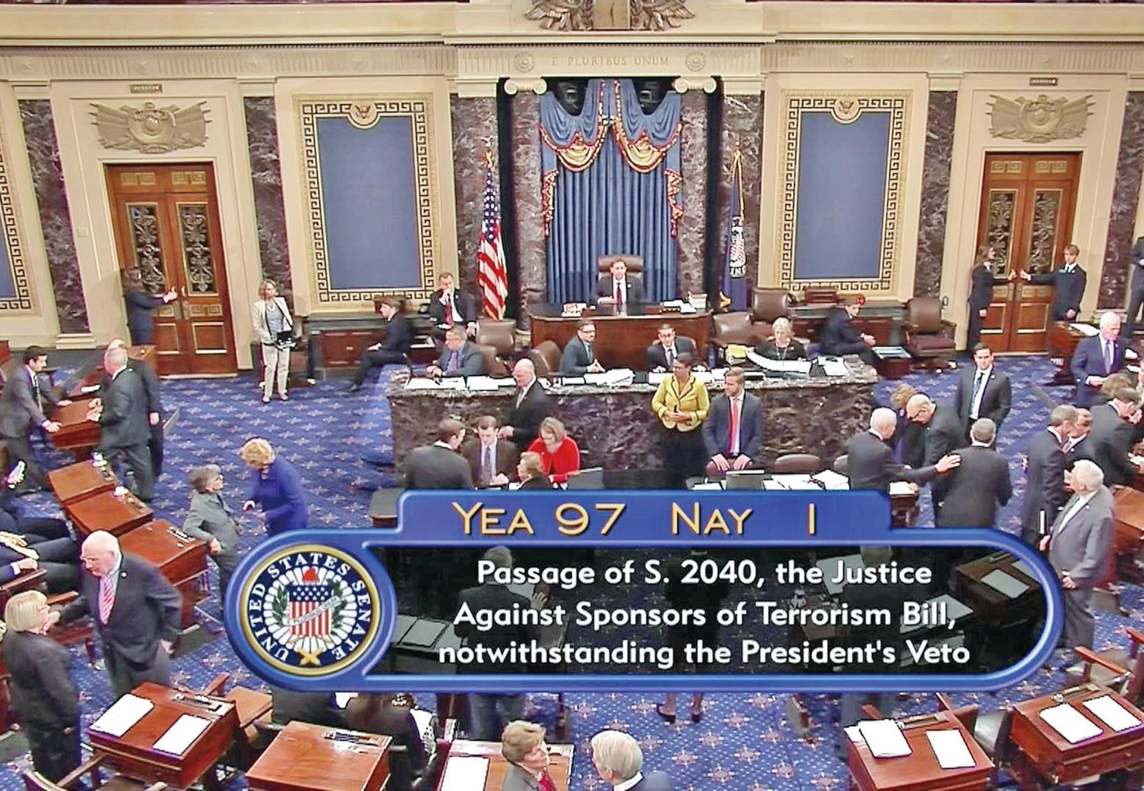 遭國會參眾兩院推翻