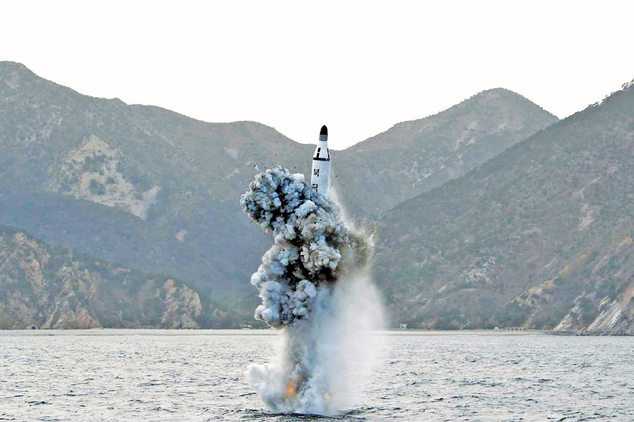 朝射飛彈落日本防識區
