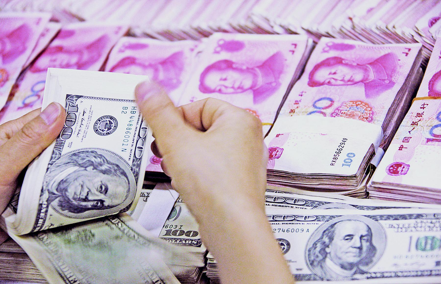 加息壓力致人幣貶值