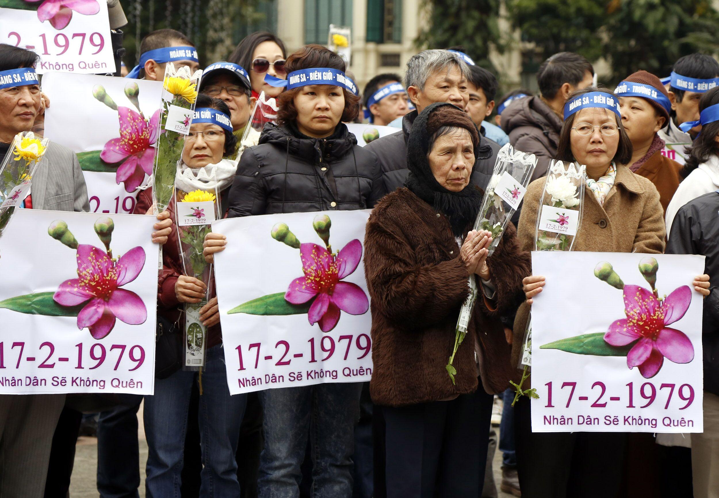 逾百越南人高喊反中
