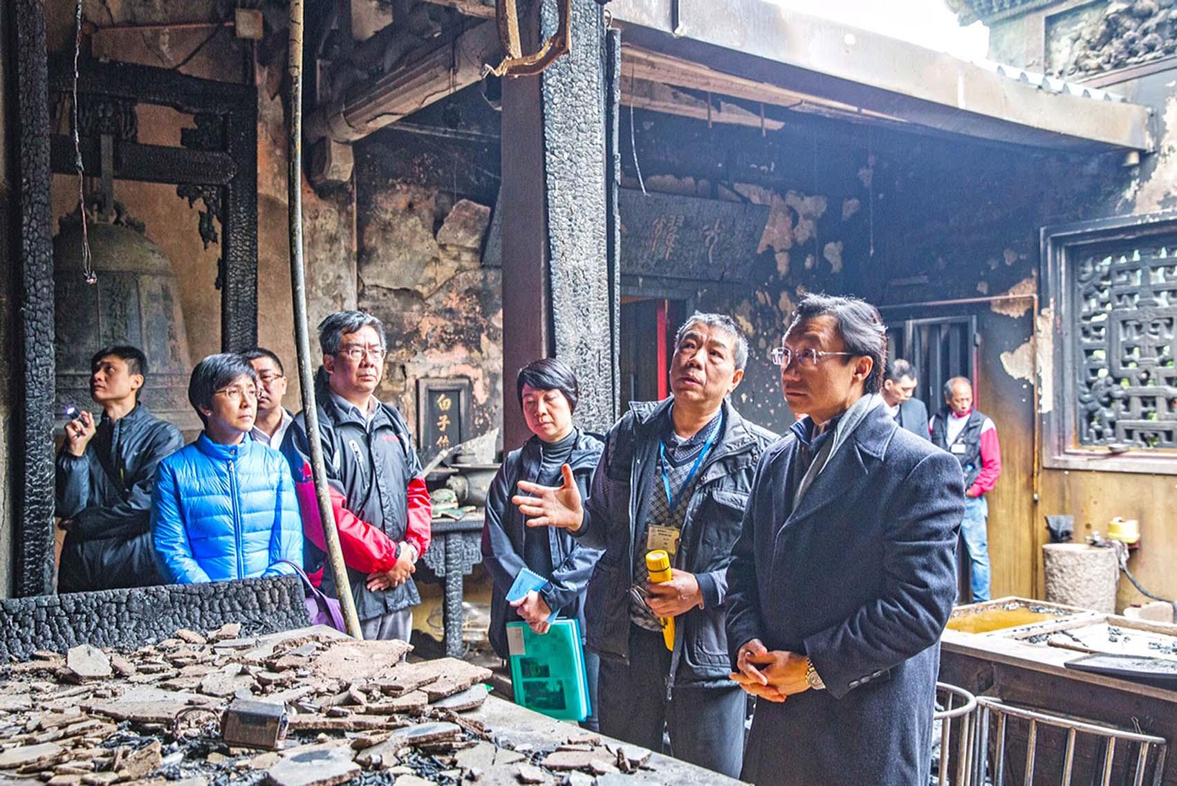 媽閣廟正殿28年後昨再失火