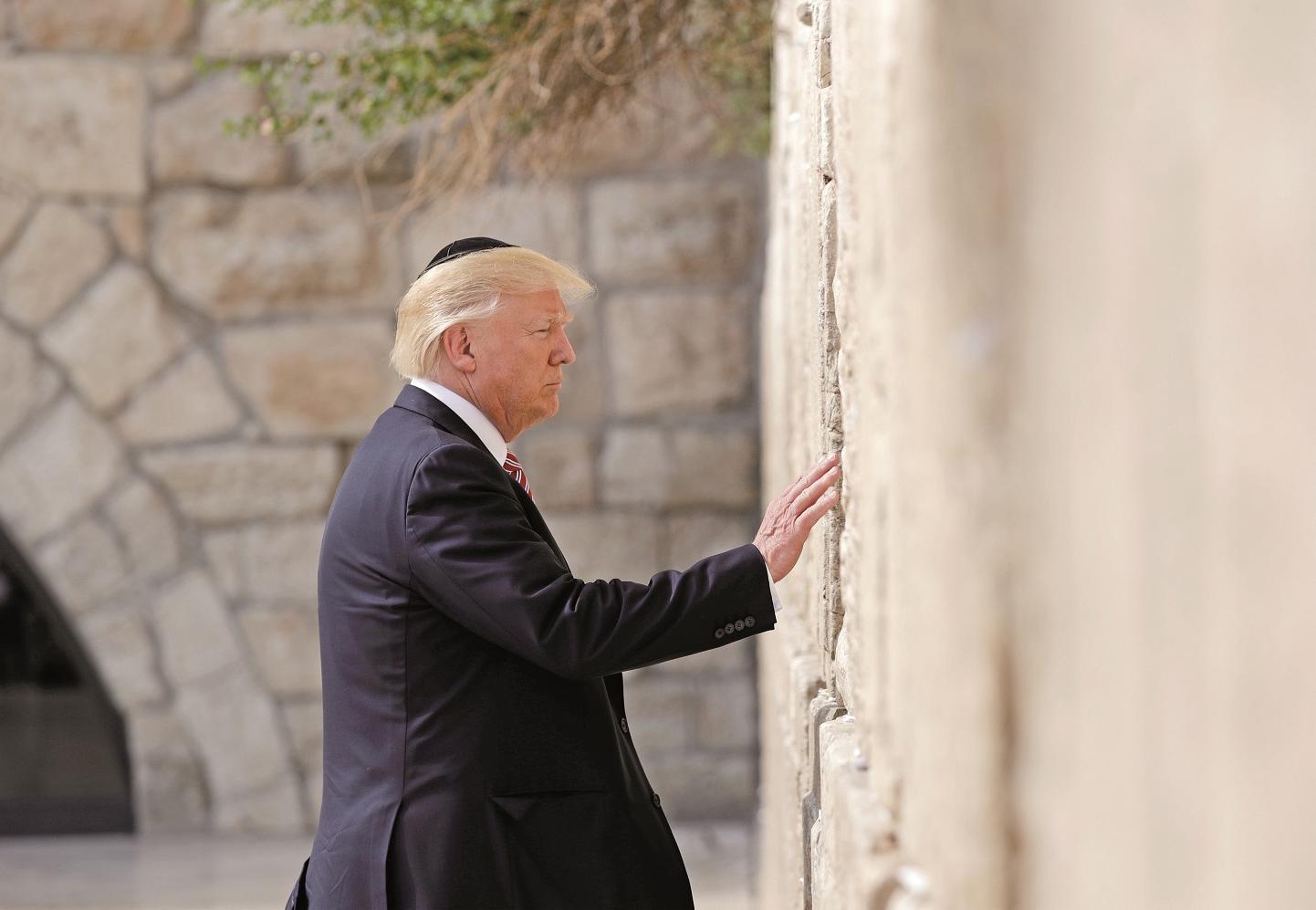 特朗普到訪哭牆