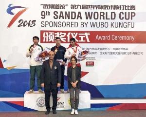 蔡飛龍世界杯散打賽摘銀牌
