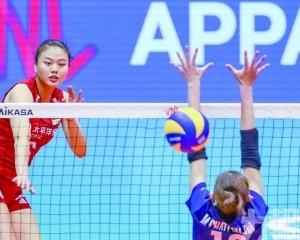 中國女排3局橫掃泰國