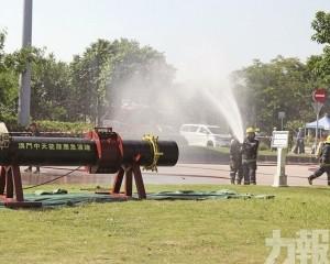 模擬天然氣管道洩漏引致火警