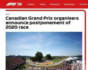 F1加拿大站難敵新冠病毒宣佈延期