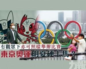 東京奧運明夏硬上馬?