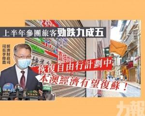 李偉農:恢復自由行計劃中 本澳經濟有望復蘇!