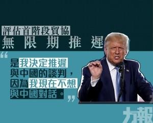 特朗普:現在不想和中國談