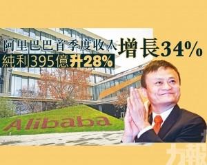 純利395億升28%