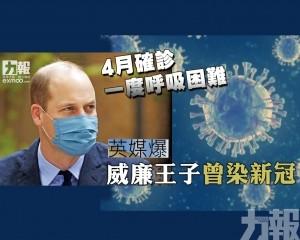 英媒爆威廉王子曾染新冠