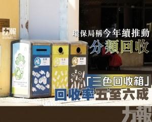 「三色回收箱」回收率五至六成