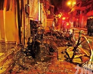 媽閣垃圾桶起火兩電單車燒毀