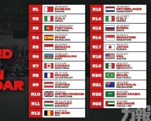 葡萄牙確定取代中國主辦F1第3站