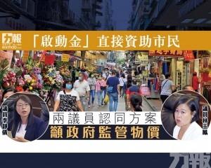 兩議員認同方案 籲政府監管物價