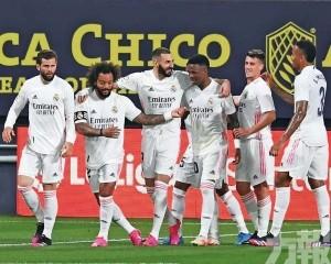皇馬3蛋贈卡迪斯升西甲榜首