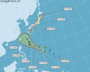 熱帶風暴「康妮」趨向台灣以東海面