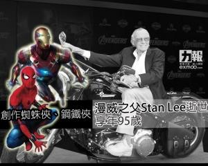 漫威之父Stan Lee逝世 享年95歲