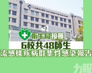 6校共48師生集體染流感