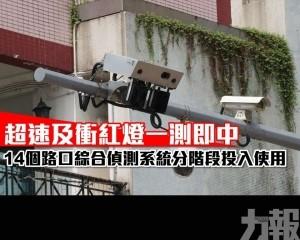 14個路口綜合偵測系統分階段投入使用