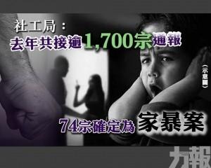 有74宗確定為家暴案