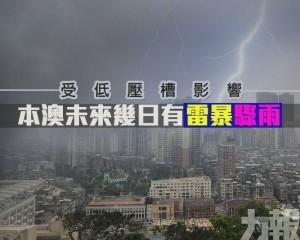 未來幾日有雷暴驟雨