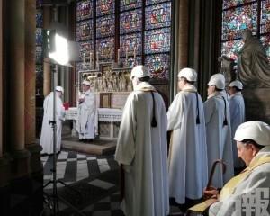 巴黎聖母院大火後首次彌撒