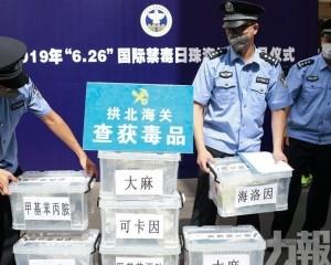 拱北海關銷毀逾37公斤毒品