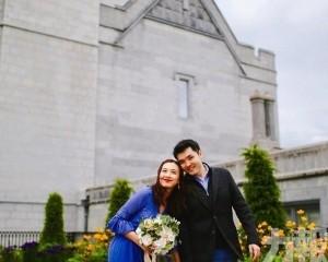 朱千雪與青梅竹馬的醫生男友結婚