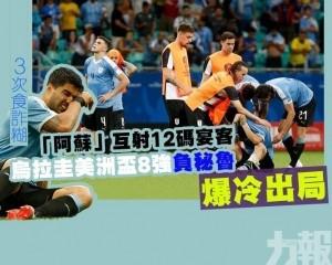 烏拉圭美洲盃8強負秘魯爆冷出局