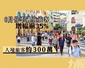 入境旅客約300萬
